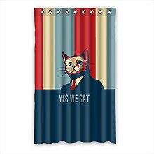 """Custom Polyester-Katze lichtgeschützten-Fenster Vorhang für Schlafzimmer oder Wohnzimmer einem Stück, 132,1x 213,4cm Zoll über 132cm x 213cm, Polyurethan, D, 52""""""""x84"""