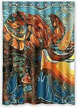 """Custom Polyester-Malerei lichtgeschützten-Fenster Vorhang für Schlafzimmer oder Wohnzimmer einem Stück, 132,1x 182,9cm Zoll über 132cm x 183cm, Polyurethan, e, 52""""""""x72"""