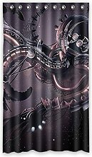 """Custom Polyester-Octopus lichtgeschützten-Fenster Vorhang für Schlafzimmer oder Wohnzimmer einem Stück, 127x 213,4cm Zoll über 127cm x 213cm, Polyurethan, D, 50""""""""x84"""