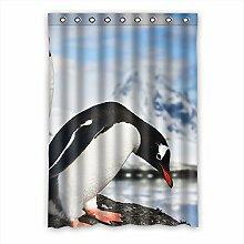 """Custom Polyester-Pinguin lichtgeschützten-Fenster Vorhang für Schlafzimmer oder Wohnzimmer einem Stück, 132,1x 182,9cm Zoll über 132cm x 183cm, Polyurethan, B, 52""""""""x72"""