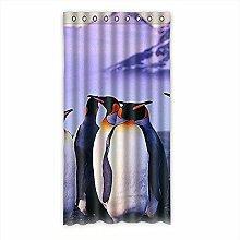 """Custom Polyester-Pinguin lichtgeschützten-Fenster Vorhang für Schlafzimmer oder Wohnzimmer einem Stück, 127x 243,8cm Zoll über 127cm x 244cm, Polyurethan, a, 50""""""""x96"""