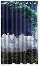 """Custom Polyester-Planet lichtgeschützten-Fenster Vorhang für Schlafzimmer oder Wohnzimmer einem Stück, 127x 213,4cm Zoll über 127cm x 213cm, Polyurethan, C, 50""""""""x84"""