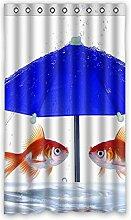 """Custom Polyester-Regentropfen lichtgeschützten-Fenster Vorhang für Schlafzimmer oder Wohnzimmer einem Stück, 127x 213,4cm Zoll über 127cm x 213cm, Polyurethan, C, 50""""""""x84"""