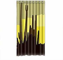 """Custom Polyester-Saguaro lichtgeschützten-Fenster Vorhang für Schlafzimmer oder Wohnzimmer einem Stück, 127x 243,8cm Zoll über 127cm x 244cm, Polyurethan, C, 50""""""""x96"""