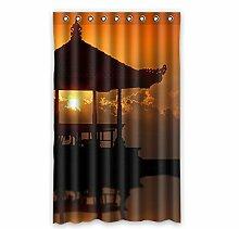 """Custom Polyester-Scenery lichtgeschützten-Fenster Vorhang für Schlafzimmer oder Wohnzimmer einem Stück, 132,1x 213,4cm Zoll über 132cm x 213cm, Polyurethan, B, 52""""""""x84"""