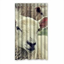 """Custom Polyester-Schaf lichtgeschützten-Fenster Vorhang für Schlafzimmer oder Wohnzimmer einem Stück, 127x 213,4cm Zoll über 127cm x 213cm, Polyurethan, a, 50""""""""x84"""
