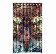 """Custom Polyester-Schmetterling lichtgeschützten-Fenster Vorhang für Schlafzimmer oder Wohnzimmer einem Stück, 127x 213,4cm Zoll über 127cm x 213cm, Polyurethan, D, 50""""""""x84"""