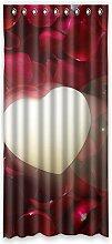 """Custom Rose Polyester-Lichtdicht-Fenster Vorhang für Schlafzimmer oder Wohnzimmer einem Stück, 127x 274,3cm Zoll über 127cm x 275cm, Polyurethan, D, 50""""""""x108"""