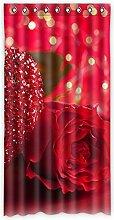 """Custom Rose Polyester-Lichtdicht-Fenster Vorhang für Schlafzimmer oder Wohnzimmer einem Stück, 127x 243,8cm Zoll über 127cm x 244cm, Polyurethan, C, 50""""""""x96"""