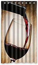 """Custom Rot Polyester-Wein lichtgeschützten-Fenster Vorhang für Schlafzimmer oder Wohnzimmer einem Stück, 127x 213,4cm Zoll über 127cm x 213cm, Polyurethan, C, 50""""""""x84"""