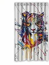 """Custom Tiger Polyester-Lichtdicht-Fenster Vorhang für Schlafzimmer oder Wohnzimmer einem Stück, 127x 213,4cm Zoll über 127cm x 213cm, Polyurethan, B, 50""""""""x84"""