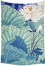 Custom Wandbehang Tapisserie Home Dekoration Cartoon Lotus Flower 101,6x 152,4cm