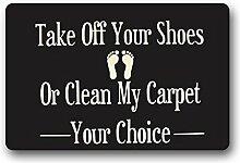 Custom Waschmaschine gewaschen Fußmatte Take Off Your, Schuhe oder reinigen My-Teppich Fußmatte, mehrfarbig
