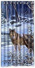 """Custom Wolf Polyester-Lichtdicht-Fenster Vorhang für Schlafzimmer oder Wohnzimmer einem Stück, 127x 243,8cm Zoll über 127cm x 244cm, Polyurethan, B, 50""""""""x96"""