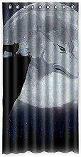 """Custom Wolf Polyester-Lichtdicht-Fenster Vorhang für Schlafzimmer oder Wohnzimmer einem Stück, 127x 243,8cm Zoll über 127cm x 244cm, Polyurethan, D, 50""""""""x96"""