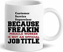 Customer Service Supervisor Tasse Kaffeetasse -