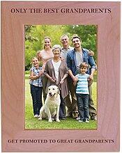CustomGiftsNow Holz-Bilderrahmen mit Aufschrift