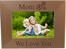 CustomGiftsNow Mom We Love You - Gravur Holz
