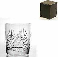 Cut Kristall, Whisky Glas mit Läufer