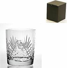 Cut Kristall, Whisky Glas mit Motorrad