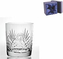 Cut Kristall Whisky Glas mit Steinware