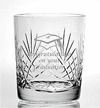 Cut Kristall Whisky Glas mit Steinware Graduation