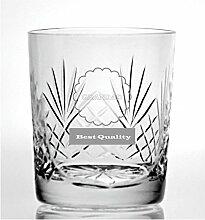 Cut Kristall Whisky Glas mit Steinware Grandad
