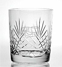 Cut Kristall Whisky Glas mit Steinware Kanal Boot
