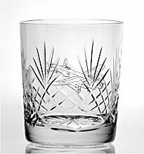 Cut Kristall Whisky Glas mit Steinware Lancaster
