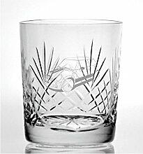 Cut Kristall Whisky Glas mit Steinware Modern Mini