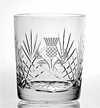 Cut Kristall Whisky Glas mit Steinware Schottische