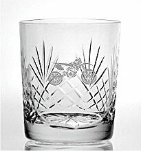 Cut Kristall Whisky Glas mit Steinware Speedway