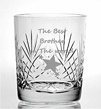 Cut Kristall Whisky Glas mit Steinware The Best