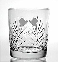 Cut Kristall Whisky Glas mit Steinware Usher Design