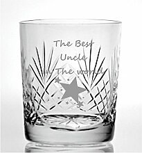 Cut Kristall Whisky Glas mit The Best Uncle