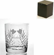 Cut Kristall, Whisky Glas mit Usher