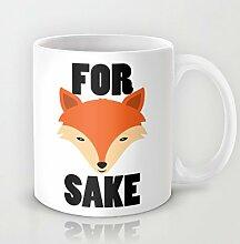 Cute Animal Kaffeebecher Funny Fox Sake Tasse 11Oz Keramik Kaffee Becher Great Novelty Geschenk Weihnachten Geschenke für Männer, Frauen, Oma, Opa, Freunde, Boss und Lehrer
