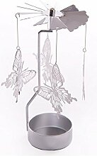 Cute Butterfly Design Metal Tealight Spinner by