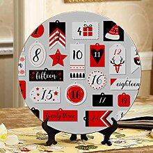 Cute Christmas Adventskalender Dekorationsplatten