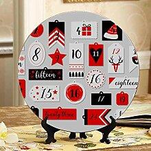 Cute Christmas Adventskalender Dekorationsplatten