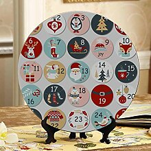 Cute Christmas Adventskalender Dekorative Teller