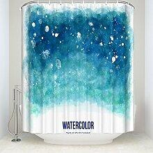 Cute handbemalt Pattern Creative Illustration Warm Life Kranz Wasserdicht Eco Friendly Badezimmer Duschvorhänge Schimmelresistent Stoff 137,2cm (W) X 198,1cm (H), Polyester, Zyh-tk-enyl-467, 36\(w) x 78\(h)