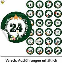 cute-head 24 Adventskalender-Zahlen (Aufkleber