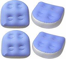 CUTICATE 4 Stück Aufblasbar Massage Matte, Spa
