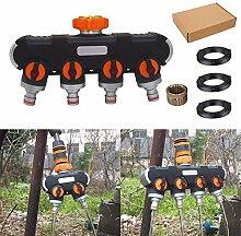 Cutito Gartenschlauch-Verteiler, verstellbar,