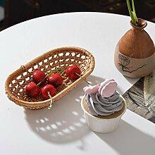 Cuttey Startseite Kirsche Obst Ablagekorb Rattan