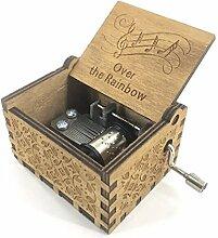 Cuzit Spieluhr, antikes Design, geschnitzt,