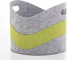 CV Feuerholz-Korb Filz Kaminholz-Tasche grau grün