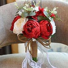 Cvbndfe Braut hält Blumen Hochzeit Bouquet