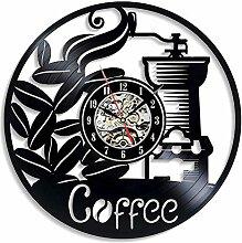 CVG Kaffee Vinyl Schallplatte Wanduhr Modernes